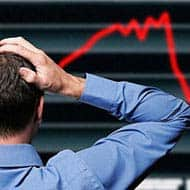 Sensex drops 300 pts; SBI tumbles 4%; Rupee down 39 paise