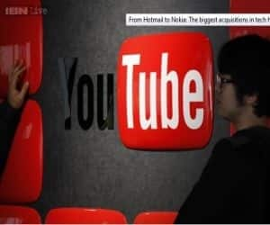 Google acquired video-sharing website YouTube for $1.65 billion in 2006. When bought YouTube in 2006 when it was a year old.