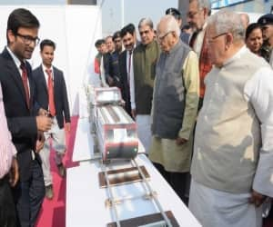 The Governor of Uttar Pradesh, Shri Ram Naik and the Union Minister for Micro, Small and Medium Enterprises, Shri Kalraj Mishra visiting an exhibition, at the foundation stone laying ceremony of MSME Technology Centre, at Greater Noida, Uttar Pradesh on November 29, 2016. The Ministers of State for Micro, Small & Medium Enterprises, Shri Giriraj Singh and Shri Haribhai Parthibhai Chaudhary are also seen.