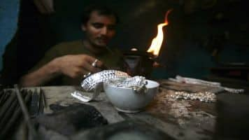 Silver weakens in futures trade, down Rs 109