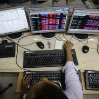 Live: Sensex trades with downward bias, flirts with 28K