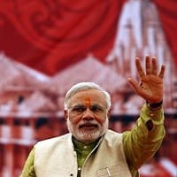 Narendra Modi in Delhi, holds road show to reach BJP HQ