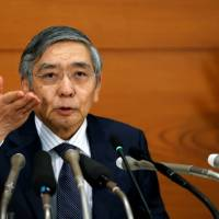 BOJ's Kuroda sees no big rise or fall in bond buying for now
