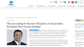 The Cyrus Mistry interview that's gone missing from Tata website