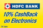 10% CashBack on Electronics